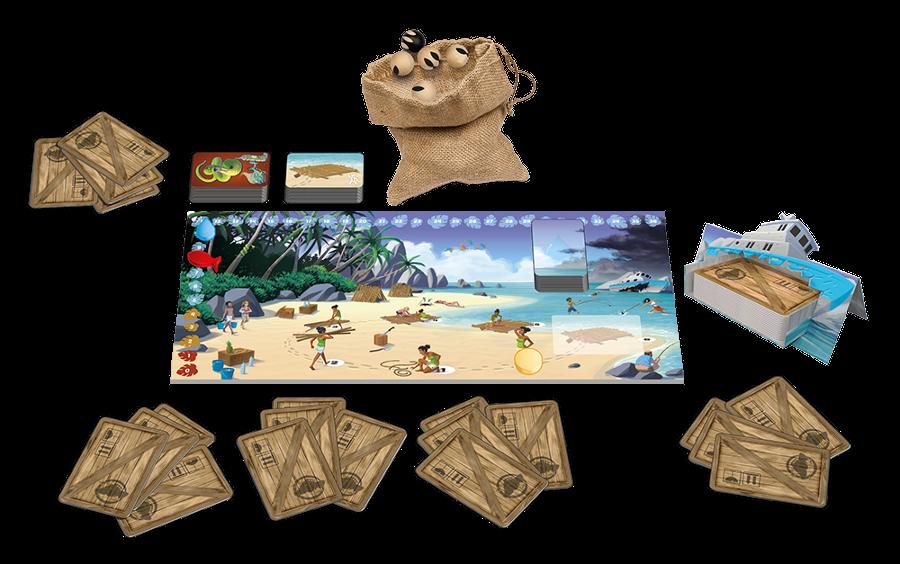 Aperçu du materiel de jeu de Galerapagos